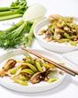 Quick Celery-Fennel Stir Fry with Cashews