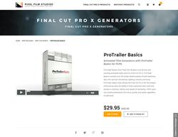 Pixel Film Studios Plugin - ProTrailer Basics - FCPX