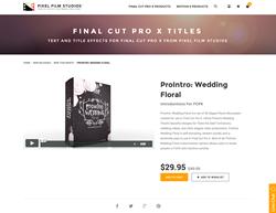 FCPX - ProIntro Wedding Floral - Pixel Film Studios Plugin