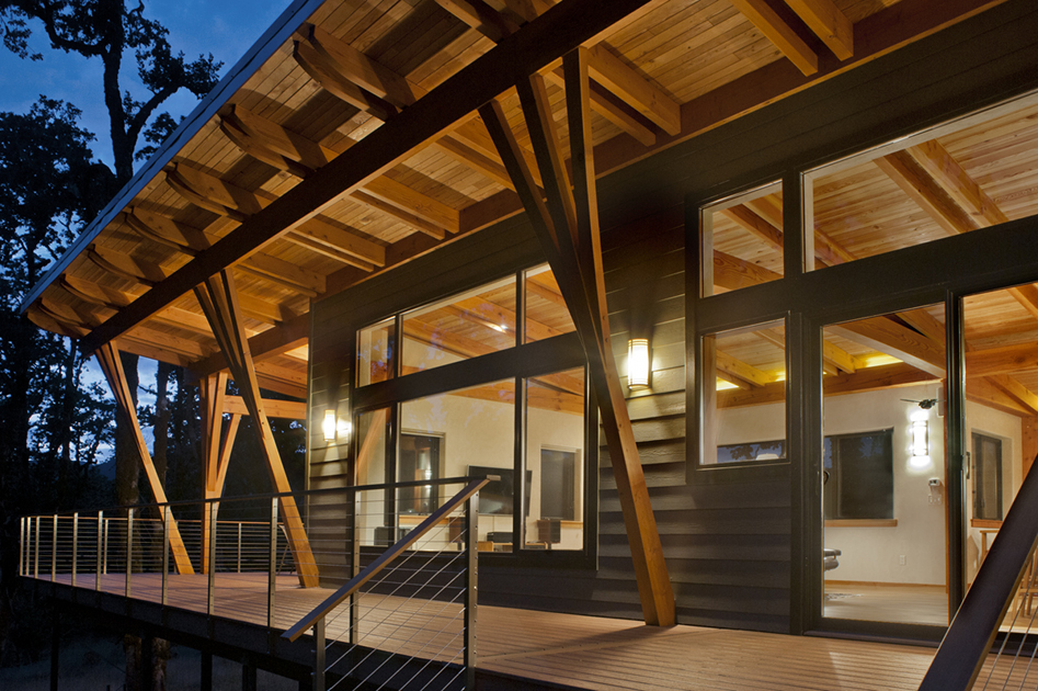 Contemporary design gains momentum with new energy works Modern timber frame house plans
