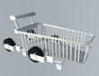 The wheels and legs can fold in to shrink the cart down to a manageable size.