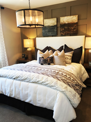 Master Bedroom in Plan 1 Model at Santee Mission Trails