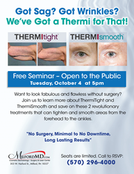 ThermiTight & ThermiSmooth treatments now offered at MilfordMD Cosmetic Dermatology Surgery & Laser Center!