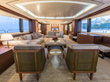 The Beautiful Salon on the AMANECER Yacht
