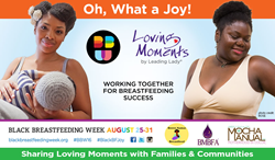 Loving Moments supports Black Breastfeeding Week's goals to advocate for the health benefits and personal empowerment of breastfeeding.
