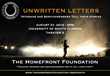 Unwritten Letters, The Homefront Foundation's first event, is slated for this Saturday in Tampa.