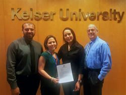 Keiser-University-Miami-campus-student-Michelle-Vaquero-with-her-official-letter-recognizing-her-as-the-2016-2017-UPS-Scholar