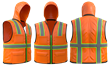 This invention addresses this issue by adding a hood to a standard safety vest.