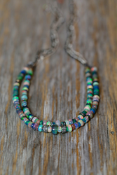 Opal and Pave Diamond Necklace from Nadean Designs