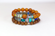 Opal Diamond Wood Stack Bracelet from Nadean Designs.
