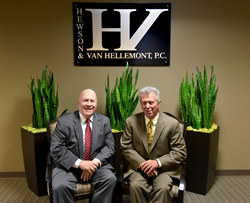 Hewson and Van Hellemont, P.C. firm founders James Hewson and Jerald Van Hellemont.