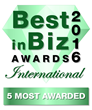 Best in Biz Awards 2016 International 5 Most Awarded