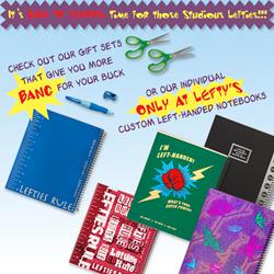 Left handed school supplies