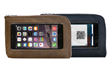 The Intrepid iPhone Travel Wallet—grizzly or black premium leather