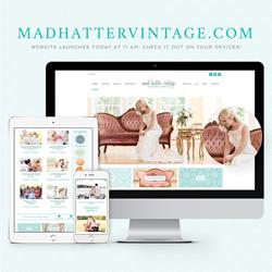 Mad Hatter Vintage Rentals website