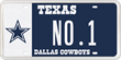The Cowboys Are the Number One Sports Plate in Texas.
