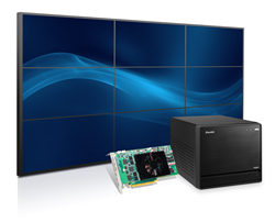 Shuttle's small form factor XPC cube R81710M computer is designed to power stunning digital signage and control room video walls using an integrated Matrox C900 graphics card