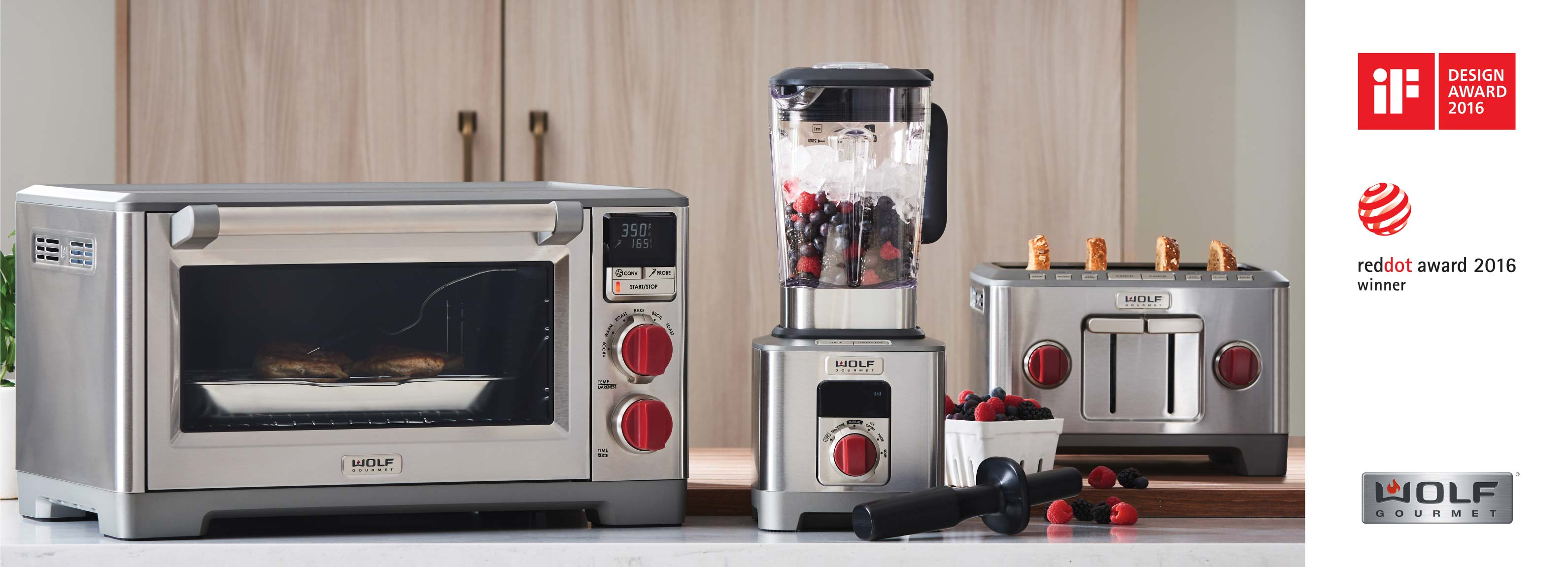 Wolf Gourmet Countertop Appliances Recognized for Design Excellence