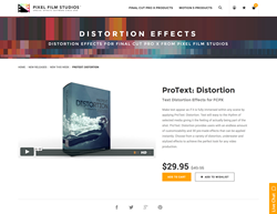 FCPX - ProText Distortion - Pixel Film Studios Plugin