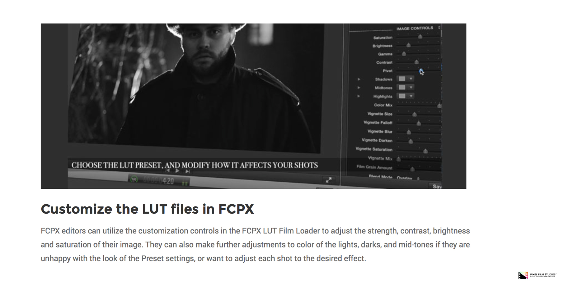 how to install lut final cut pro x