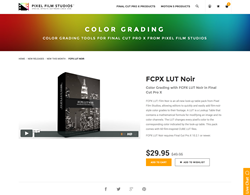 FCPX LUT Noir - Pixel Film Studios Plugin - Final Cut Pro X