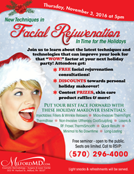 Free Cosmetic Seminar on Facial Rejuvenation with Special Pricing for Holiday Makeovers!