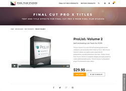 FCPX Plugin - ProList Volume 2 - Pixel Film Studios