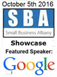Featured Presenters: Google and Constant Contact to present at SBA Showcase & Job Fair on Oct 5th 2016 in Latham NY at the Holiday Inn Express & Conference Center