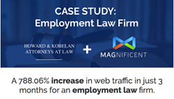 Magnificent Marketing, marketing, content marketing, case study, law firm of Howard & Kobelan, web traffic, engagement