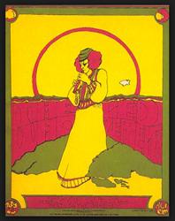 Original 1969 Led Zeppelin Merriweather Post Pavilion, Columbia, Maryland Concert Poster