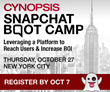 Cynopsis Announces Snapchat Boot Camp on October 27 in NYC