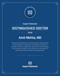 Chicago Pain Management Doctor Amit Mehta MD Recognized as 2106 Expert Network Distinguisehd Doctor