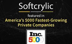 Softcrylic selected as Inc.5000 Americas fastest privately owned companies
