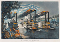 Francis B. Palmer, artist. Currier & Ives, lithographers and publishers. New York, New York; 1866. Hand-colored lithograph. Private collection.