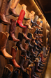 Lucchese's curated collection on display.