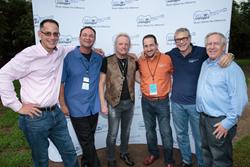 From left to right: Rob Harrison, Paul Pellinger, Joey Kramer, Andrew Sossin, Marshall Geisser, Bob Sossin