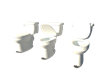 It is a small pedal that is installed on the bottom of the toilet that will raise up the toilet seat.