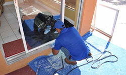 Fort Lauderdale sliding glass door repair, board up