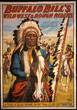 Wild West poster with Chief Iron Tail, 1900