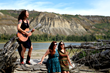 Miss Quincy & Twin Peaks recording '16 Horses' on the banks of the Peace River