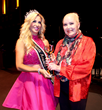 Carla Gonzalez, Ms. North America Universe 2016 was invited by The Love International Film Festival to present Golden Globe winner and iconic actress Sally Kirkland with the Humanitarian Award