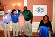 John F. McDonough, President and CEO of the Chicago Blackhawks, with Little City Special Olympians.