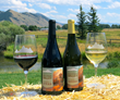 "Jackson Hole Winery partnered with the fall arts festival to produce two signature wines with labels bearing the 2016 festival featured artwork, ""Greeting the Dawn."""