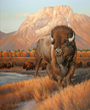 """Greeting the Dawn"" by Edward Aldrich is the featured artwork for the Jackson Hole Fall Arts Festival and appears on labels for the event's signature wines as well as the 2016 festival poster."