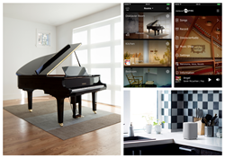 Disklavier ENSPIRE Piano with mobile app and speakers