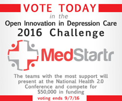 Visit MedStartr.com to vote for the best new idea is depression care