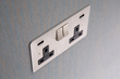 USB socket, stainless steel finish
