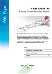 A Fast Routine Test Ensures Trusted Moisture Results White Paper