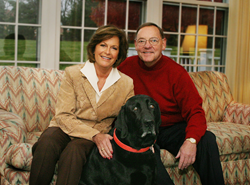 Rita &John Canning pictured with their beloved Smokey