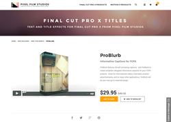 Pixel Film Studios Plugin - ProBlurb - FCPX Plugin